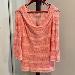 Coral Loose Knit Tunic Sweater